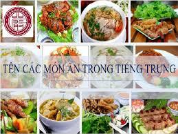 Các món ăn trong tiếng Trung