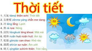 Học tiếng Trung giao tiếp mỗi ngày - Mẫu câu nói về thời tiết