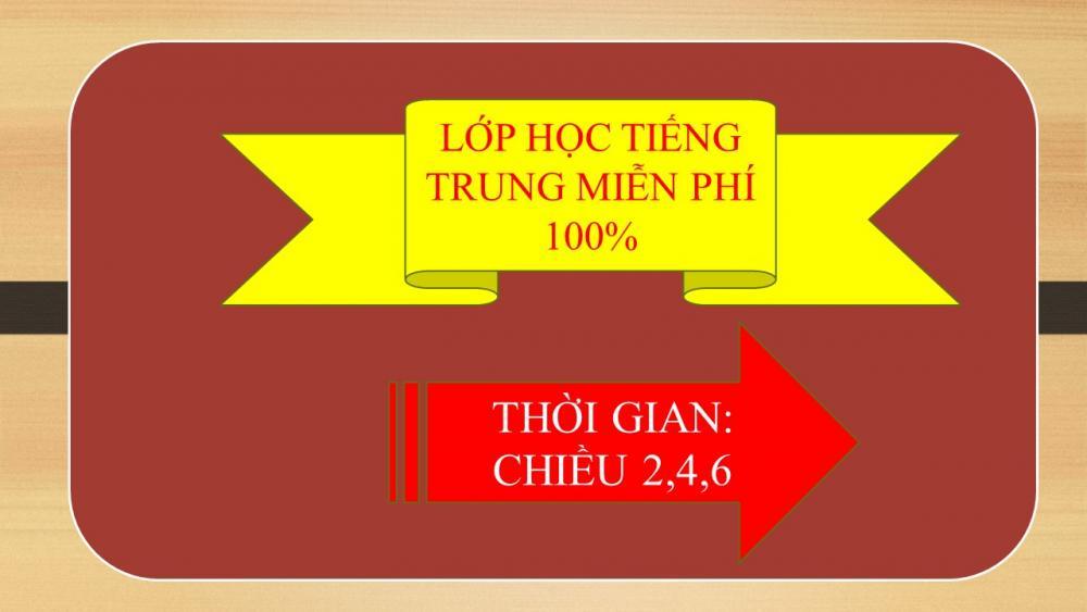 Học tiếng Trung miễn phí 100%